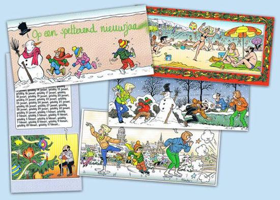 Afbeelding van Kiekeboes - Set 5 wenskaarten kiekeboes (GEEN)
