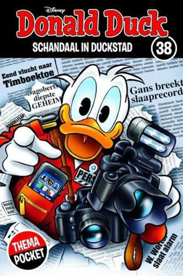 Afbeelding van Donald duck thema pocket #38 - Schandaal in duckstad (SANOMA, zachte kaft)