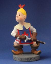 Afbeeldingen van Beeld dolle musketiers wiske
