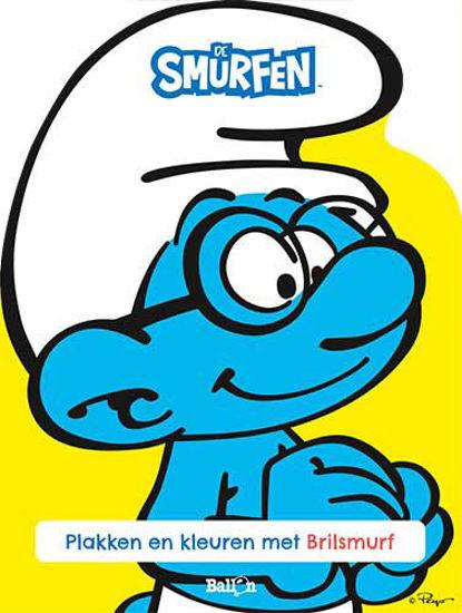 Afbeelding van Smurfen - Plakken en kleuren met brilsmurf (BALLON, zachte kaft)