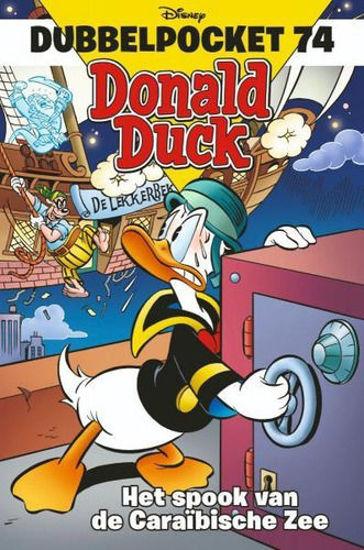 Afbeelding van Donald duck dubbelpocket #74 - Spook van caraibische zee (SANOMA, zachte kaft)