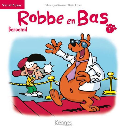 Afbeelding van Robbe en bas #1 - Beroemd (KENNES EDITIONS, harde kaft)