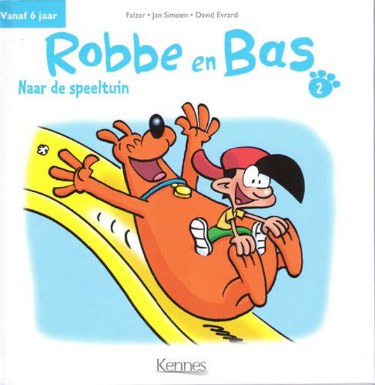 Afbeelding van Robbe en bas #2 - Naar de speeltuin (KENNES EDITIONS, harde kaft)