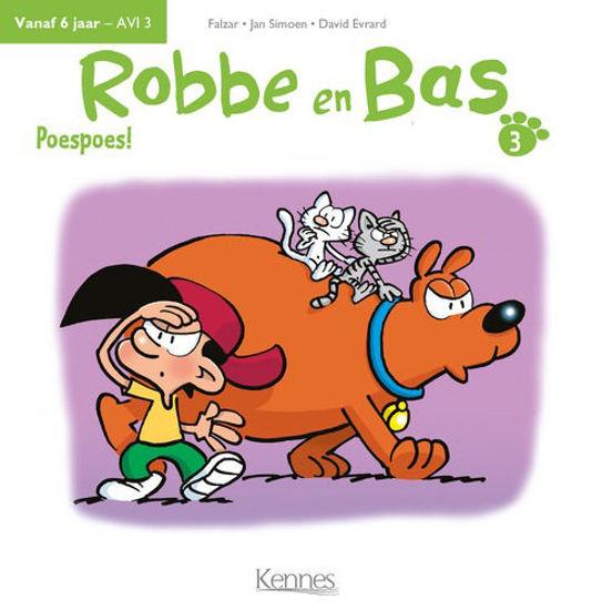 Afbeelding van Robbe en bas #3 - Poespoes (KENNES EDITIONS, harde kaft)