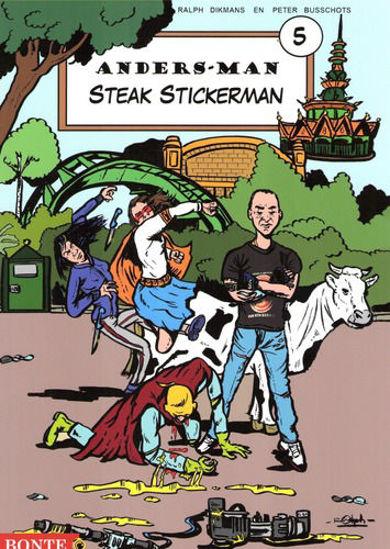 Afbeelding van Anders man #5 - Steak stickerman (BONTE, zachte kaft)
