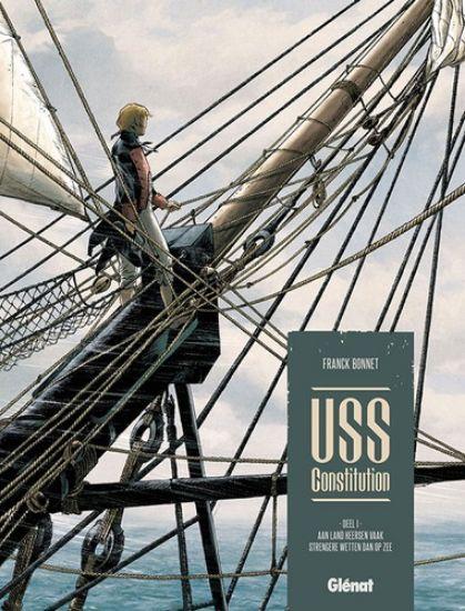 Afbeelding van Uss constitution #1 - Aan land heersen vaak strengere wetten dan op zee - Tweedehands (GLENAT, harde kaft)